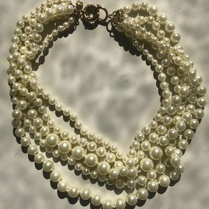 J crew pearl costume necklace